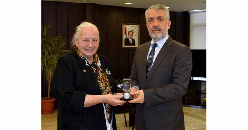Rektör Bilgiç, Timsal Karabekir'i konuk etti