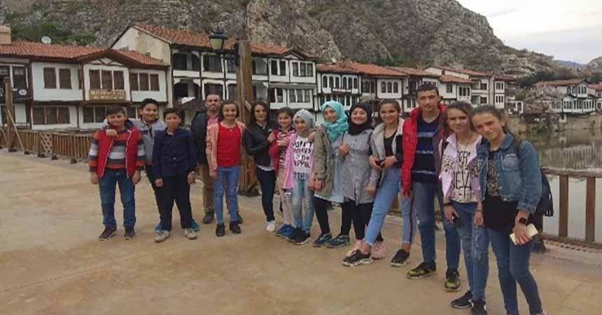 Öğrenciler şehzadeler şehri Amasya'da