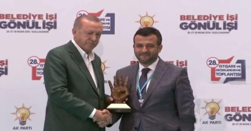 Doğan'a Erdoğan'dan ödül