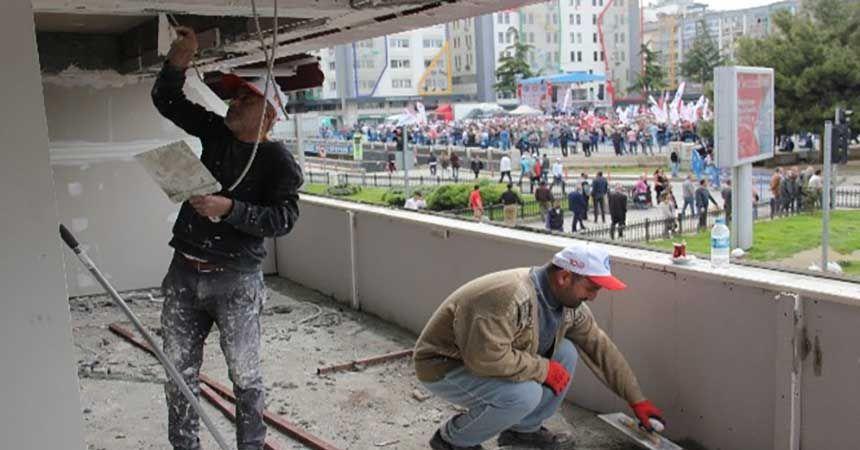 İşçiler yürüdü onlar çalıştı