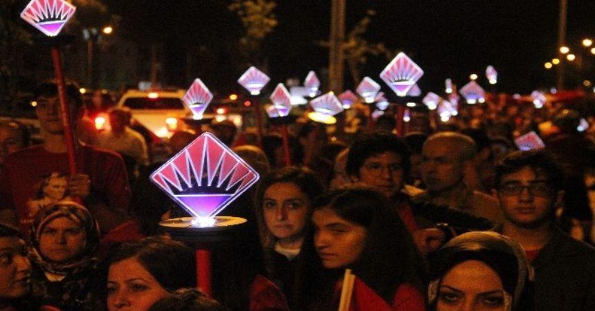 Bahçeşehirliler Samsun'da yürüdü