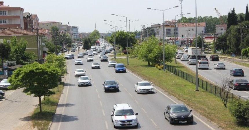 Trafikte 'bayram' yoğunluğu