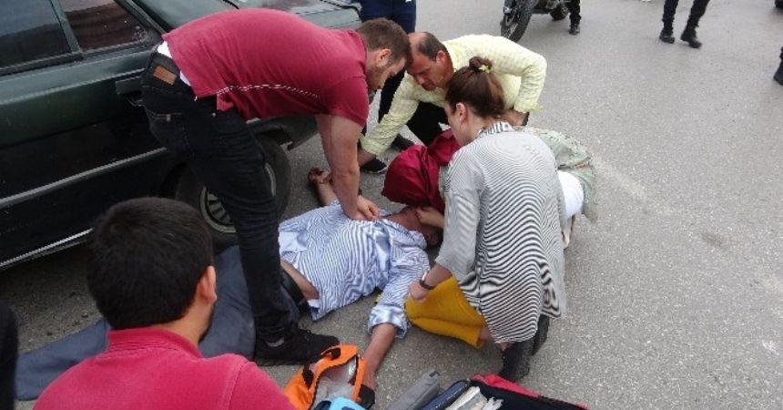 Kaza tartışmasında kalbi durdu