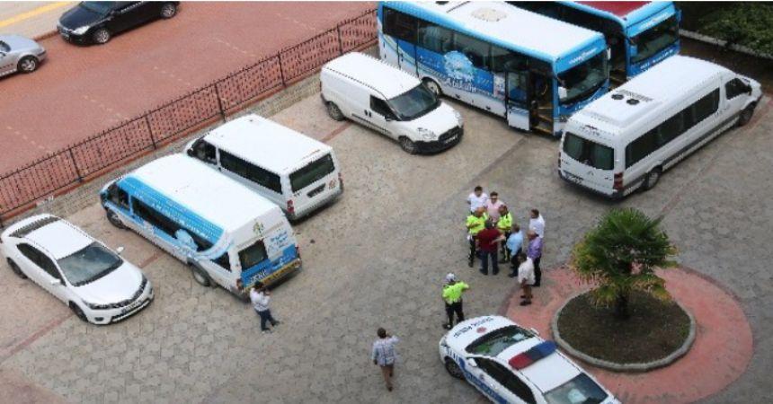 Atakum Belediyesi'nin araçları haczedildi