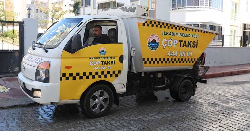İlkadım'da 'çöp taksi' hizmete girdi