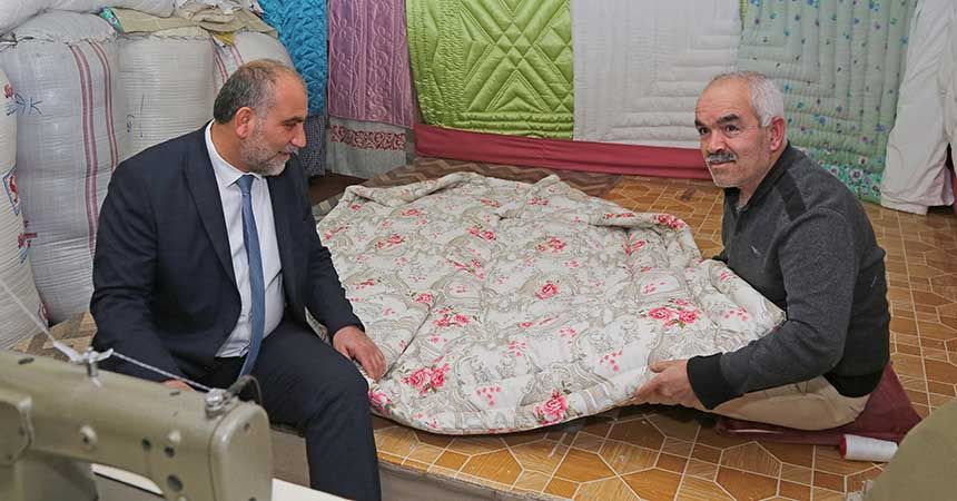 Başkan Sandıkçı'dan esnaf ziyaretleri