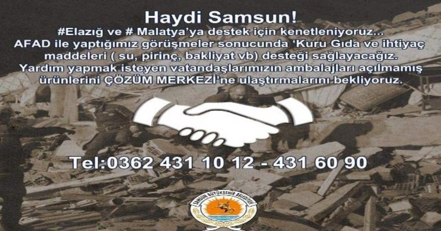 Büyükşehir'den depremzedeye yardım