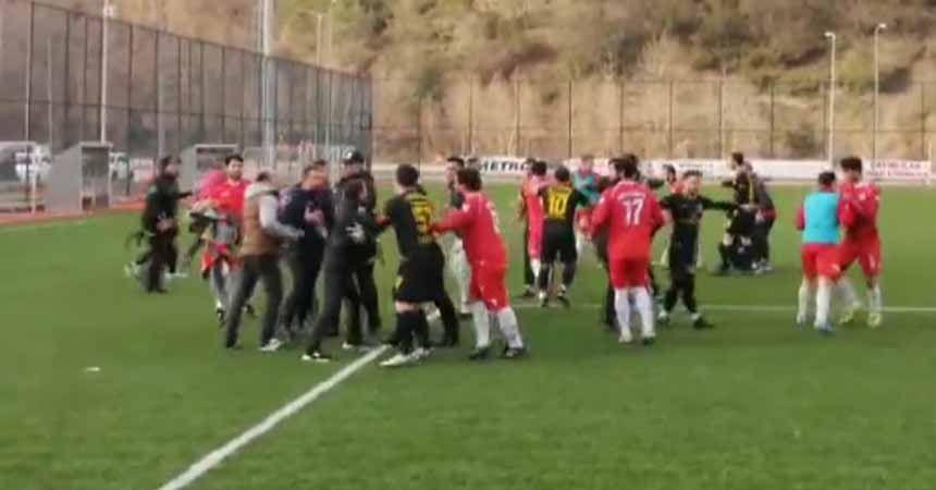 Sinop Erfelek'te olaylı maç