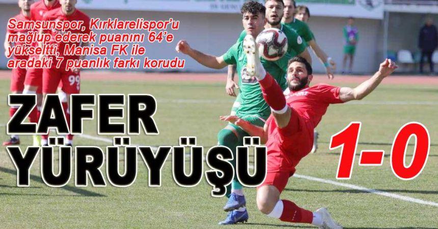 Samsunspor Kırklareli'yi Gökhan'la devirdi