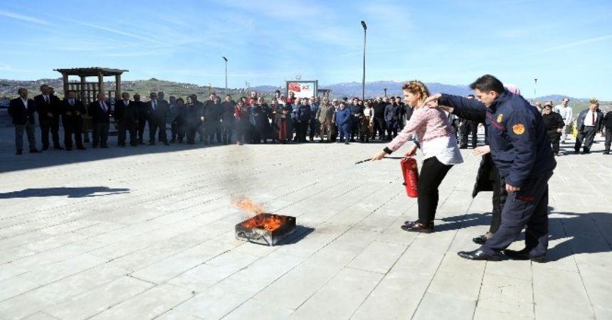 İlkadım'da yangın eğitimi