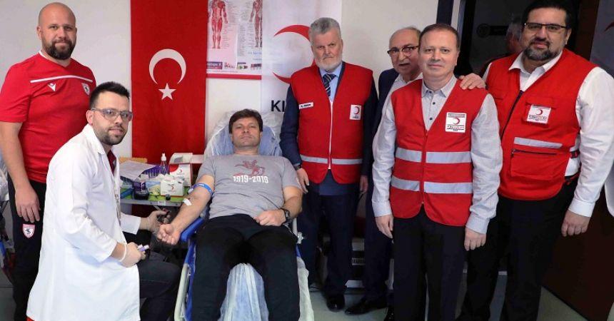 Samsunspor'da kan bağışı
