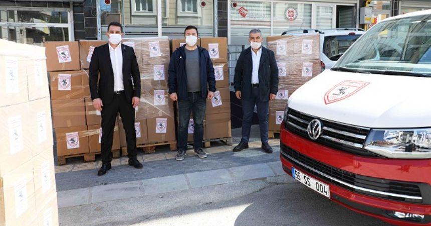 Samsunspor yardımları dağıtıma başlandı