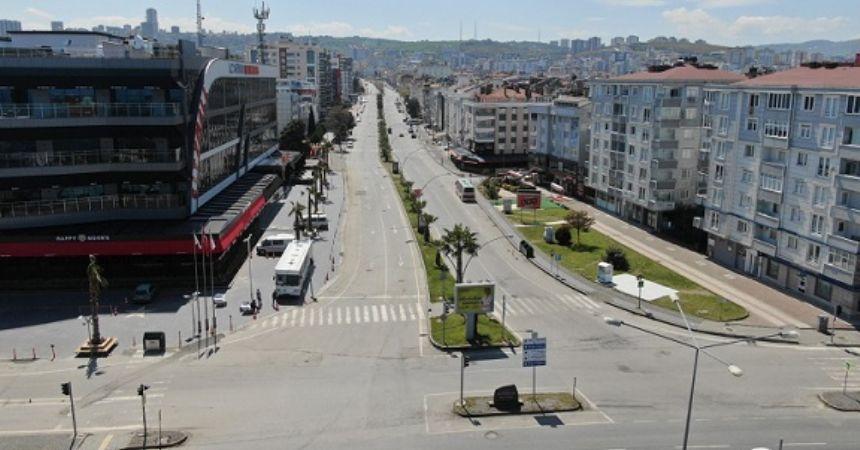 Samsun sokakları boşaldı