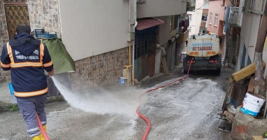 Boş sokaklar temizlendi