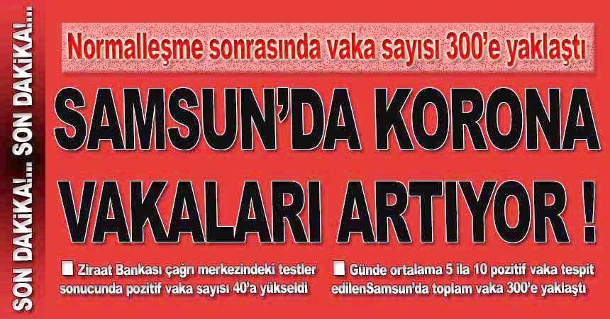 Samsun'da vakalar artıyor!