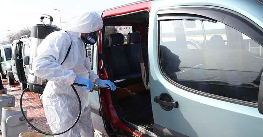 3 milyon metrekare alan dezenfekte edildi