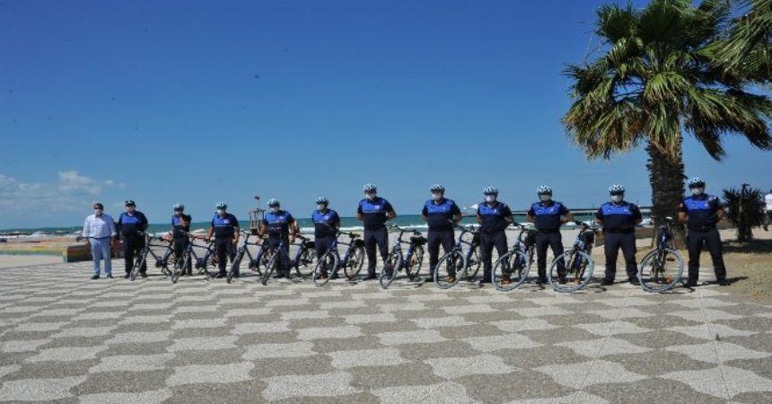 Bisikletli zabıtalar görevde