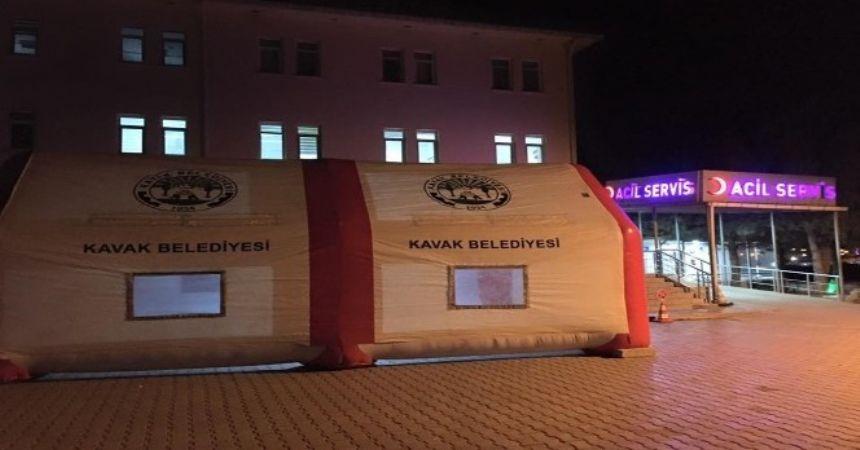 Belediyeden hastaneye numune çadırı