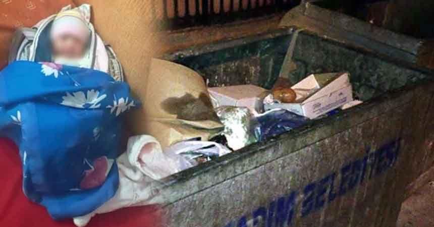 Çöpe terk edilen bebeğin annesi ve ebesi gözaltında