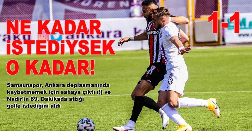 SAMSUN BAŞKENT'TE DURDU