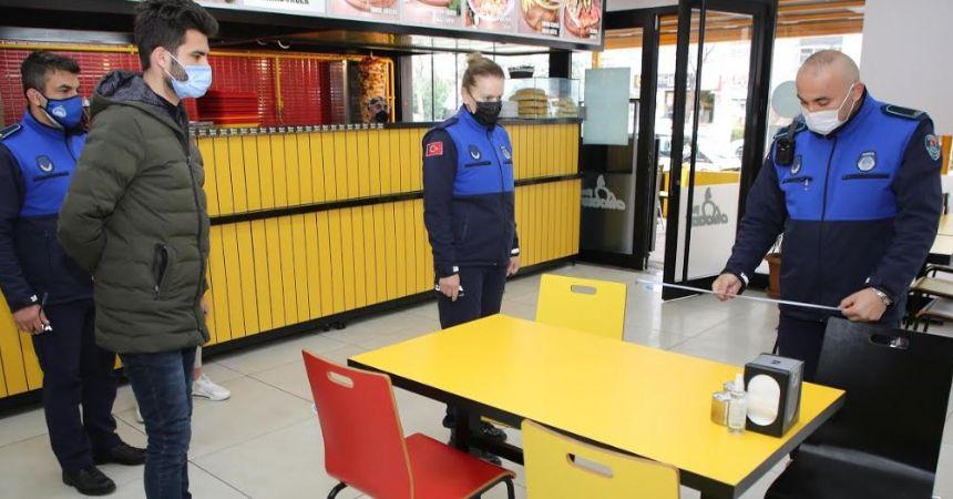 Atakum'da restoran denetimi