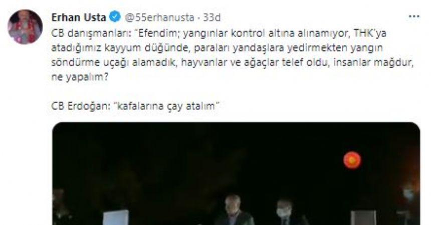 Erhan Usta, 'ti'ye aldı!