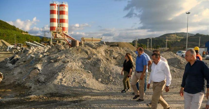 Büyükşehir'e beton santrali