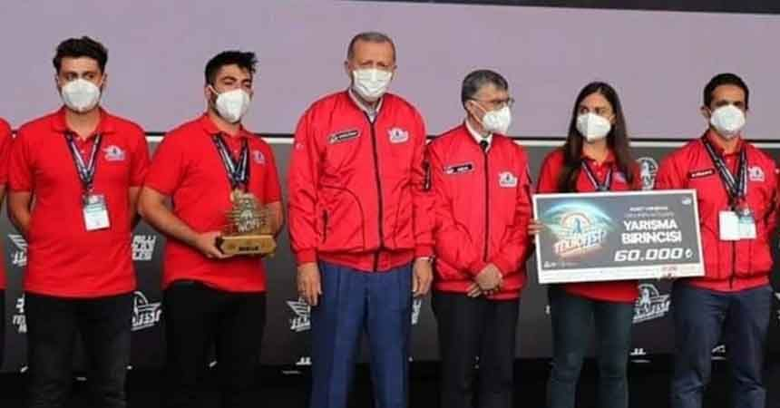 OMÜ roket takımı Türkiye birincisi