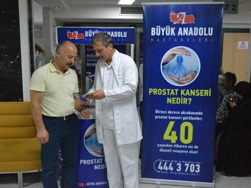 Prostat Kanserine Broşürlü Bilgilendirme