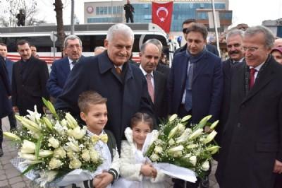 Başbakan'dan MHP'li başkana ziyaret