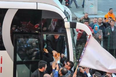 Erdoğan'a Samsun simidi ikram edildi