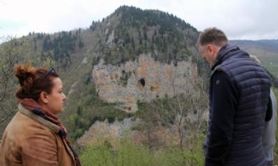Kayalıktaki Türkiye haritası şaşırtıyor