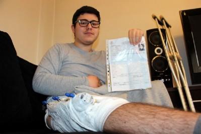 Bacağındaki demir yüzünden LYS'ye alınmadı