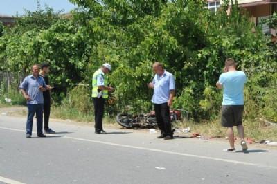 Motosiklet kazası 2 yaralı
