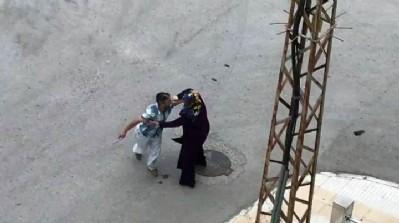 Kocası kaçtı, kadın saldırganla baş başa kaldı