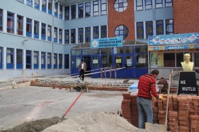 Okul ve camilere 10 milyonluk hizmet