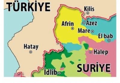 Türk topçusu Afrin'de PYD'yi vuruyor