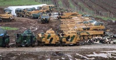 Afrin'e 4 koldan operasyon başladı!