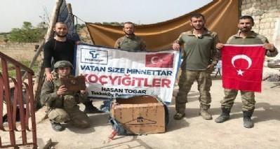 Moral paketleri Afrin'de