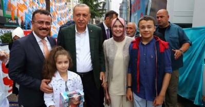 Erdoğan'a sürpriz kutlama