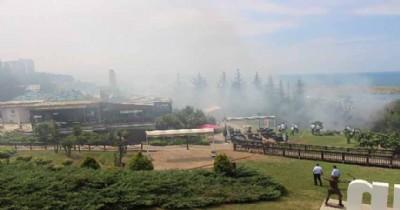 Amisos Tepesi alev alev yandı