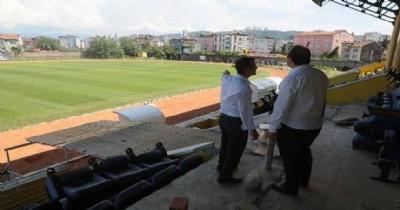 Fatsa İlçe Stadı'nda son hazırlıklar