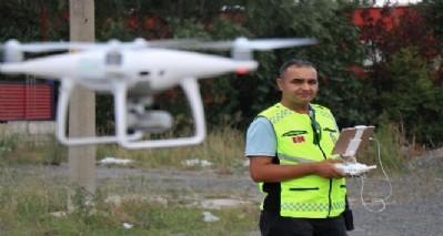 Bayram öncesi yollarda drone var