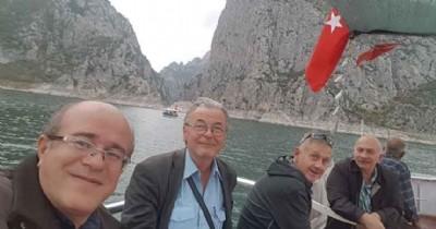 Alman turistler kanyona vuruldu
