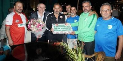 Samsunspor'a çiçekli karşılama