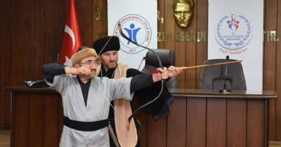 Samsun'da geleneksel okçuluk kursu