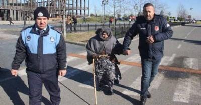 102 yaşında dilenirken yakalandı