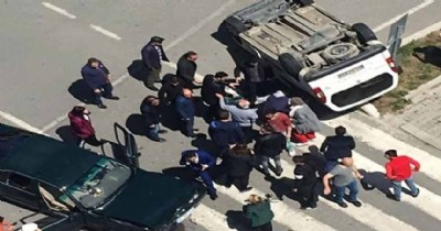 Samsun'da trafik kazası: 6 yaralı