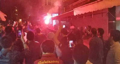 Galatasaraylıların şampiyonluk coşkusu