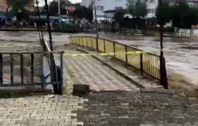 Sel Termre'de köprüyü yuttu!